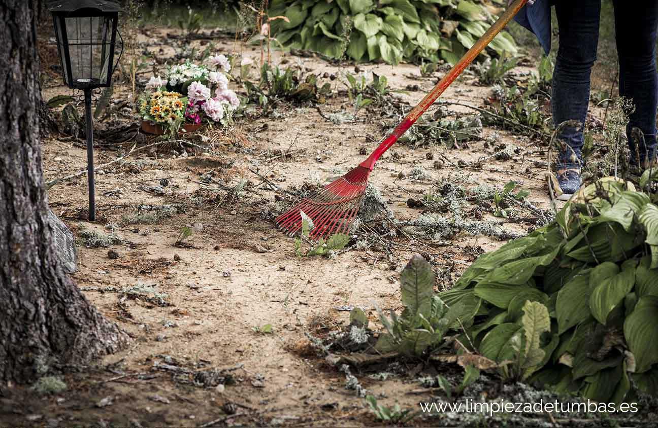 limpieza profesional en cementerios