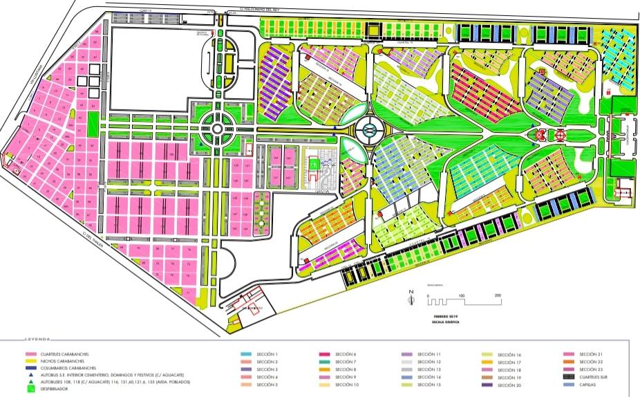 Plano Cementerio Sur Carabanchel