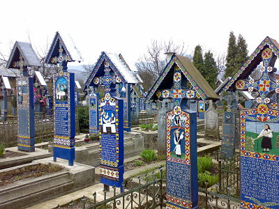 El 'cementerio alegre' de Spantza, Rumanía