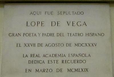 Tumba de Lope Vega