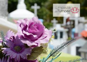 flores en las tumbas